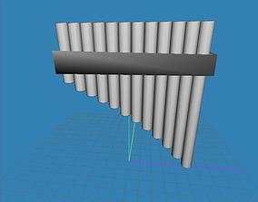 Panpipe - Base mesh 3D model