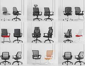 3D Office chair furniture combination