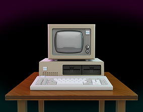 3D printable model Vintage IBM PC XT Style