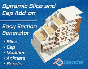 Dynamic Slice and Cap for Blender 3D model