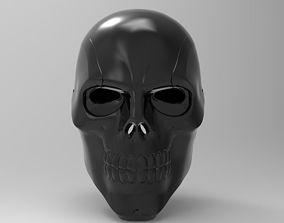 Black Mask Helmet for 3d Printing