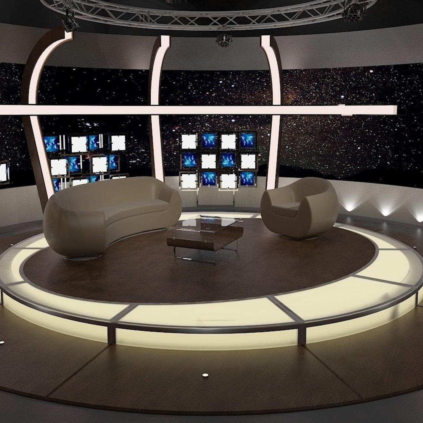 Virtual TV Studio Chat Set 20