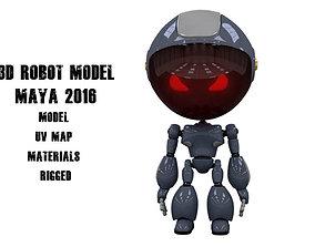 3D asset game-ready Full Body Rigged Robot Model