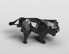 Geometric pissing english bulldog 3D print model