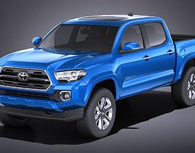 3D Toyota Tacoma Double Cab 2018 VRAY