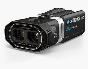 animated JVC Everio GS-TD1 3D camcorder