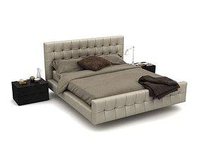 Modern Cozy Bedroom Set 3D