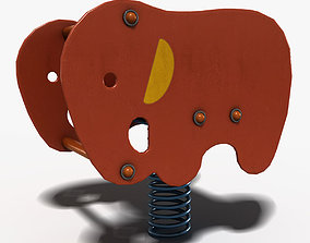 Elephant Spring 3D asset