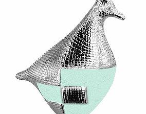 Marioni bird pop ceramic sculpture 3D