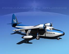 Grumman G-73 Mallard Nordair 3D model