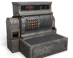 machine 3D model Old cash register