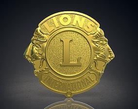 Lions club logo 3D print model