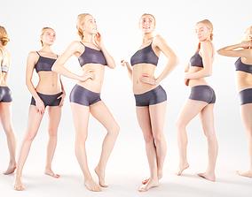 3D asset Scanned sport female Bundle of 9 models