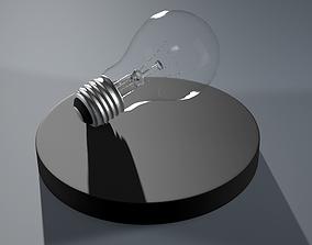 3D model arthitecture lightbulb