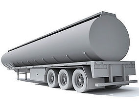 3D model Detailed to texture Tanker Trailer 10