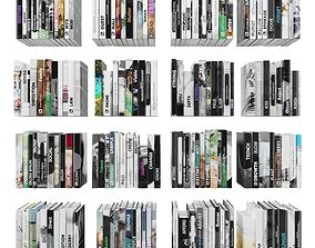3D asset Books 150 pieces 4-8-1