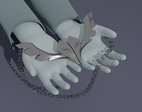 BNA necklace ginrou wolf cosplay 3D printable model