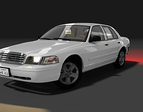 animated Ford Crown Victoria 2009 3D Model