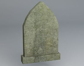 3D asset game-ready Gravestone 9 Low Poly