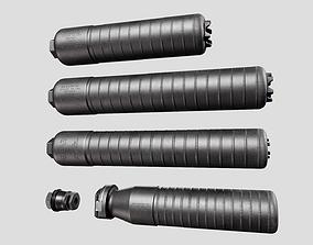 3D asset Sig Sauer SRD762 Suppressors