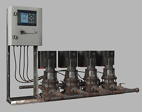 Water pump Grundfos CRE X4 Old Used pack 3D model