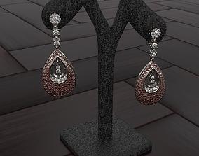 Earrings Graff diamond 3D printable model