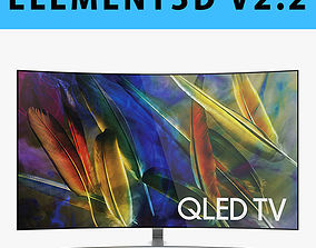 E3D - Samsung Q7C 55 Inch Curved QLED 4K TV 3D model 3D