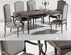 3D model Dining group Angelo Cappellini