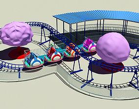 3D model Family Roller Coaster Ride