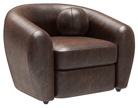 3D model Restoration Hardware Sylvain Leather Chair