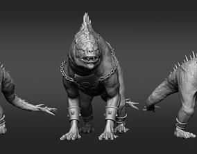 Orc Rider Sculpture 3D printable model