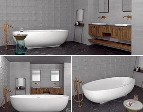 Bathrom set axor 3D model marble