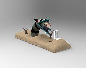 Beetlejuice Sandworm Diorama 3D printable model