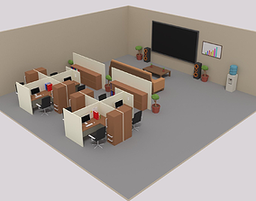 3D model Isometric LowPoly Office