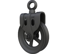 Old barn pulley 3D model