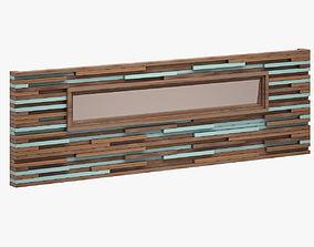 3D asset Decorative Wall Unit 001