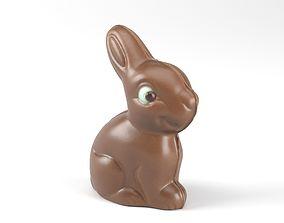 Photorealistic Chocolate Bunny 3D Scan sweet