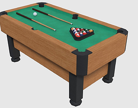 3D asset Pool Table - Game Ready