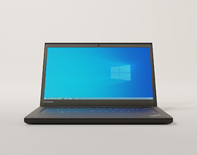 laptop 3D model game-ready scanned