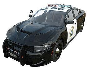 Dodge Charger California highway patrol 3D model