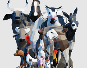 3D model Farm Animals Pack