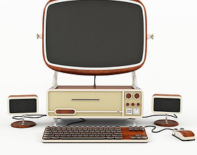 Computer old stile 3D model