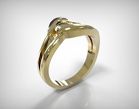 3D print model Jewelry Golden Ring Braided Line Top