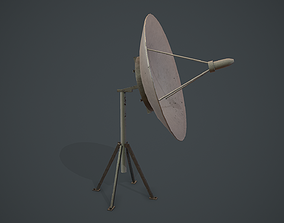 Satellite Dish Antenna PBR VR 3D asset