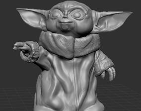 3D printable model Baby Yoda Smiling