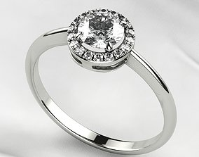5mm Gemstone Gold Fashion Ring 3D printable model