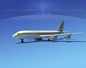 3D Boeing 707 Libyan Arab
