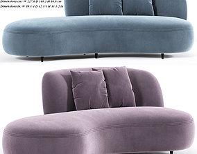 Siena Long Sofa 3D model