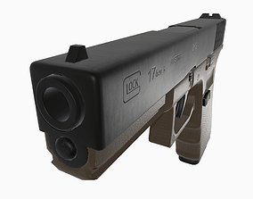 3D asset Detailed Pistol Glock 17 Generation 4 Low Poly 3