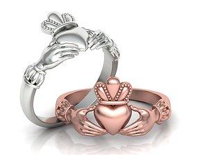 Irish Celtic Claddagh Ring printable 3dmodel